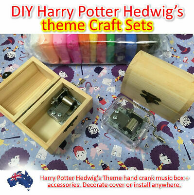 Harry Potter DIY Craft Toy Set Hedwigs Theme Music Box, DIY Gift, Hand Crank