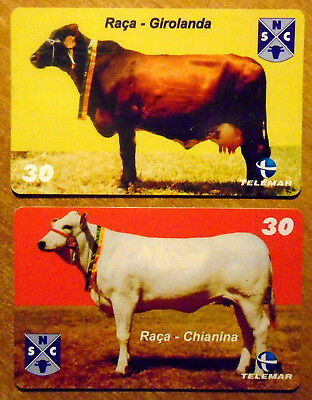 Bresil - Serie Vaches - Lot De 2 Cartes Differentes - 2