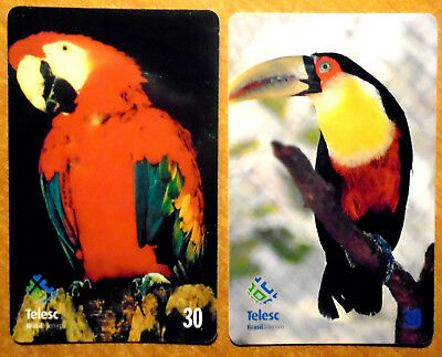 Bresil - Serie Oiseaux - Lot De 2 Cartes Differentes - 1