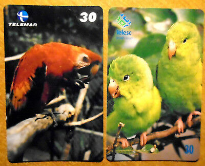 Bresil - Serie Oiseaux - Lot De 2 Cartes Differentes - 2
