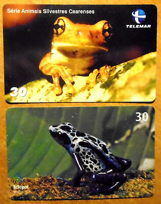 Bresil - Grenouilles - Lot De 2 Cartes Differentes