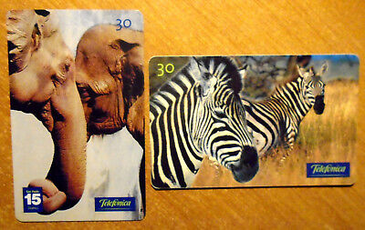 Bresil - Animaux D'afrique - Lot De 2 Cartes Differentes