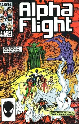 Alpha Flight (1st Series) #24 1985 VG 4.0 Stock Image Low Grade