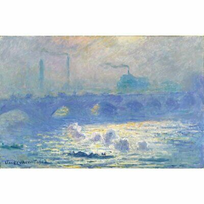 Niik Quadro waterloo bridge di claude monet falso d' autore stampa su tela