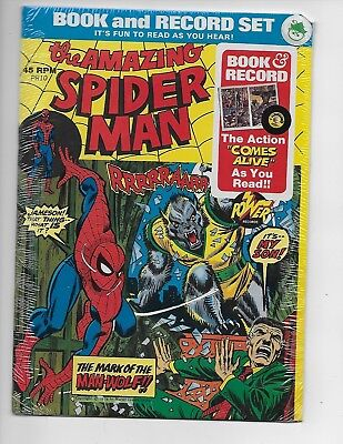 Vintage 1974 The Amazing Spider-man Comic Book and Record Set. Still Sealed !!