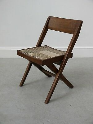 1960s VINTAGE ORIGINAL RARE PIERRE JEANNERET LIBRARY CHAIR CORBUSIER CHANDIGARH