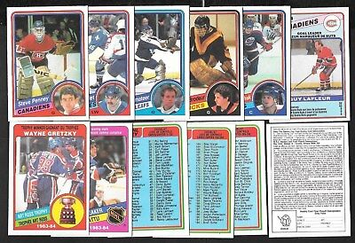 1984-85 Opc O Pee Chee Nhl Hockey Card 265-396 & Contest Insert Wrapper See List