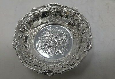 Sterling Silver 925 Small Size Candy/Nut Dish With Elegant Artistic Detail-52G