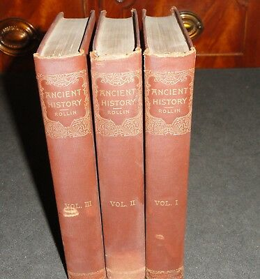 Ancient History Egyptians Carthaginians Persians by Rollin  -  Volumes  1-3 of 4