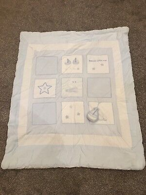Silver Cross Vintage Blue Cot & Cot Bed Quilt