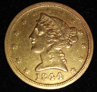 1844-O New Orleans Mint $5 Gold Piece