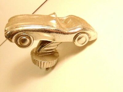 chrome plated metal sports car with bolt attached for mounting for display, etc