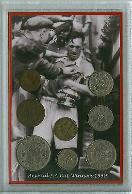Arsenal (The Gunners) Vintage F.A Cup Final Winners Retro Coin Fan Gift Set 1950