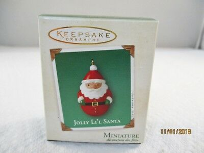 2003 Hallmark Miniature Ornament Jolly Li'l Santa #1