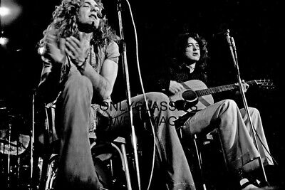 1973 Led Zeppelin Rock Band 8X12 Photo Robert Plant Jimmy Page Hamburg Germany