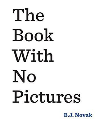 The Book With No Pictures by Novak, B. J., Paperback Book, New, FREE & Fast Deli