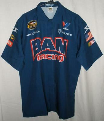 b1e1639f Bam Racing Nascar Nextel Cup Dodge Race Used Team Issued Pit Crew Shirt  Large