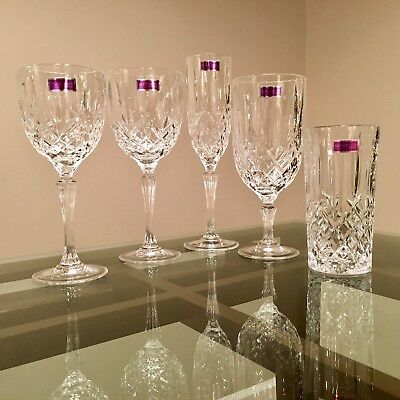 Crystal Glassware - Marquis By Waterford Markham, 5 piece setting, Set of 4