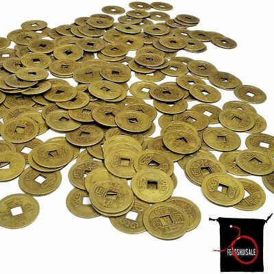 fengshuisale 100pcs Feng Shui 1 Inch Chinese Fortune Coins Feng Shui Coins W3721