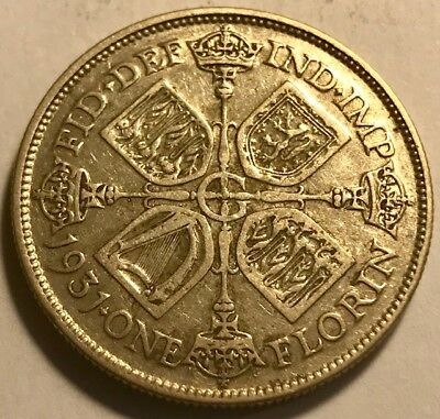 GREAT BRITAIN - George V - Silver Florin - 1931 - KM-834 - Nice Coin!
