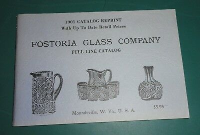 Fostoria Glass Company - 1901 CATALOG REPRINT - FULL LINE CATALOG