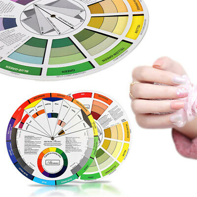 Color Wheel for Eyebrow Lip Microblading Pigment Ink Mixture Color Card Salon