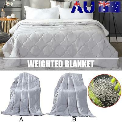 Decompression Weighted Blanket Gravity Heavy Sensory Cotton Relax Calming Quilt