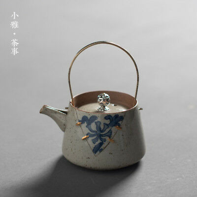 YiXing Ceramic blue and white Ti Liang pot kung fu tea set Home teapot 210cc a00