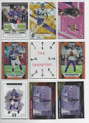 Minnesota Vikings * SERIAL #'d Rookies Autos Jerseys ** ALL CARDS ARE GOOD CARDS