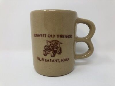 Midwest Old Threshers Mt Pleasant Iowa Coffee Mug Two Finger Handle Tractor Gift