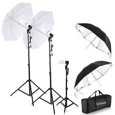 Photo Video Photography Studio Light Stand Umbrella Continuous Lighting Kit