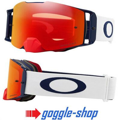 Oakley Front Line Motocross Mx Goggles - Red White Blue / Prizm Torch