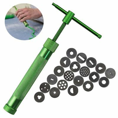 Steel Pottery Pastry Gun Fondant Cake Slime Putty Tool Fimo Clay Extruder