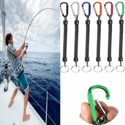 Lanyards Fishing Rope with Camping Carabiner Secure Lock Retention String