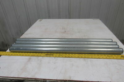 """Dematic 1.9"""" OD x 36-5/8"""" BF Gravity Conveyor Roller 7/816"""" Hex Bore Lot Of 4"""