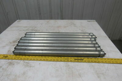 """1-7/8"""" OD x 27-5/8"""" BF 1 Groove Power Conveyor Roller 7/16"""" Hex Axle Lot Of 7"""