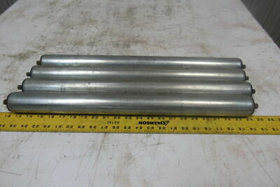 """Dematic 1.9"""" OD x 21-5/8""""BF Gravity Conveyor Roller 7/16"""" Hex Shaft Lot Of 4"""