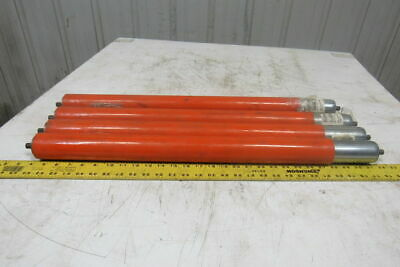 """Dematic 1.9"""" OD x 27-1/2"""" BF Gravity Conveyor Roller 7/16"""" Hex Axle Lot of 4"""