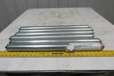 """Dematic 1.9"""" OD  x 23"""" BF Gravity Conveyor Roller 7/16"""" Hex Axle Lot Of 6"""