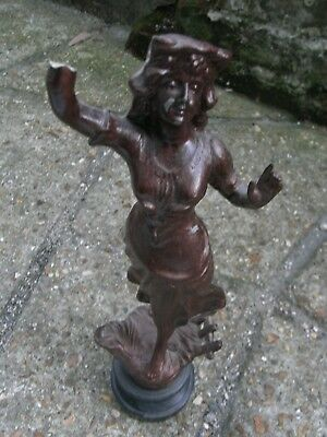Antique Spelter Figure / Hand Broke off but i Have it