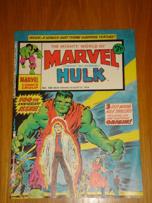 Mighty World Of Marvel #100 Hulk 1 1974 August 31 British