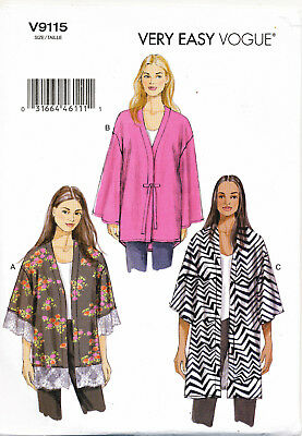 Vogue Sewing Pattern 9115 Misses 4-14 Easy Loose-Fitting Unlined Kimono Jackets