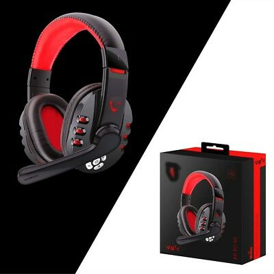 Bluetooth Gaming Headset Headphones w/Microphone For PS4 For PUBG Game For PC AU