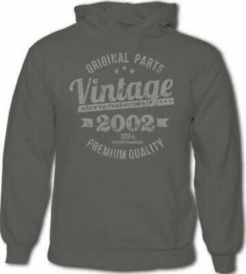 f9f7c3a87913 Vintage Year 2001 Premium Quality Mens 18th Birthday Hoodie 18 Year Old Gift