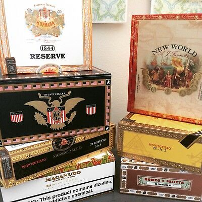 Empty Cigar Boxes Lot Of 10
