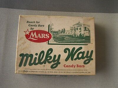 OLD EMPTY MILKY WAY CANDY BAR BOX 1950's