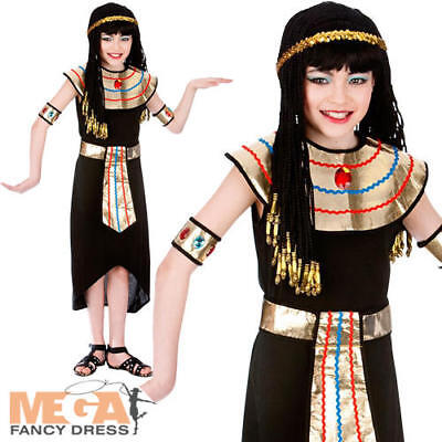 Egyptian Queen Cleopatra Girls Fancy Dress Ancient Egypt Kids Book Day Costume