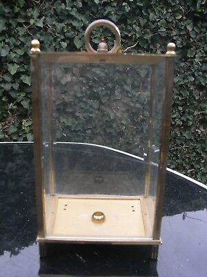 Brass and Glass Clock Case