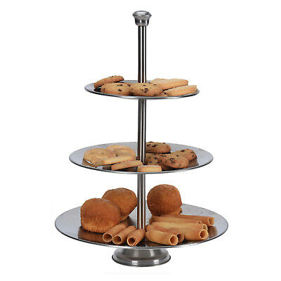 Stainless Steel 3 Tier Cake Stand  Layer Round Food Party Table Cupcake Serving