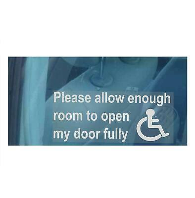 Please Allow Enough Room To Open My Door Sticker-Sign